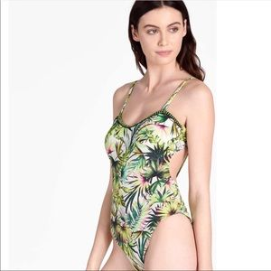 NWT Lucky Brand tropical one piece swimsuit